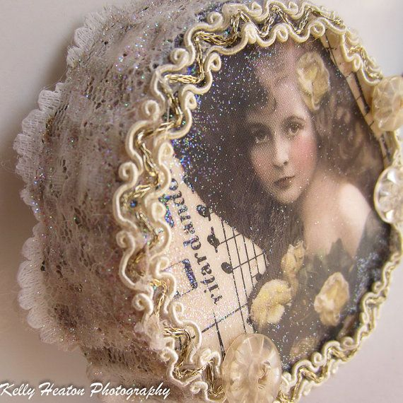 Victorian LaceGlitterPearls and Vintage by PunkinsandSweetpeas, $10.00