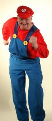 We have now added this fantastic Super Mario Style Fancy Dress costume to our collections. This really fantastic costume is perfect for any funny themed or retro fancy dress party. It consists of red peaked cap with the Mario style emblem on the front. Red Long Sleeved Shirt and Blue Dungarees with big fabulous bright yellow buttons on the front.