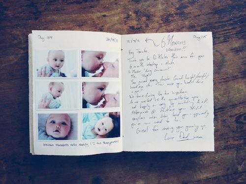 first year journal- a sentence, or a page... either way write something to baby every day for a keepsake