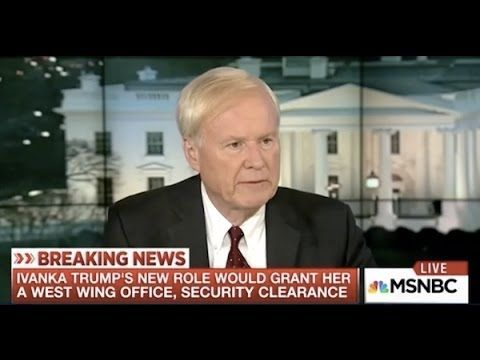 "Whatever thrill used to go up and down Chris Matthews's leg is gone now that Donald Trump is in office. Only fear and uncertainty remain as the MSNBC host makes some wild comparisons on his show. On Monday, Matthews invoked the names of Uday and Qusay Hussein, the murderous sons of the late Iraqi president, when discussing the ""enormous power"" Ivanka Trump and her husband Jared Kushner have in the White House:"