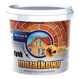Tynk mozaikowy Malfarb to tynk strukturalny, ozdobny wykonany na bazie żywic akrylowych. Produkt przeznaczony jest do wykonywania wodo- mrozoodpornych, ozdobnych wypraw tynkarskich wewnątrz i na zewnątrz pomieszczeń http://malfarb.pl/produkty-oferta/p/937-tynk-mozaikowy-nt