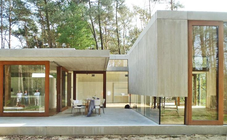 Concrete house with a lot of glass, architect: sculp[IT]architects