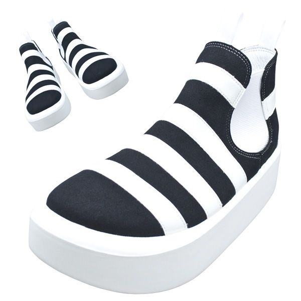 TOKYO BOPPER No.890 /  White & Black shoes featured on Jzool.com