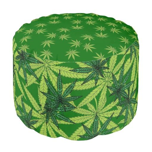 Marijuana Leaves Round Pouf $140.00 Nine point Marijuana leaves. Cannabis is recognized legally in several US states, mostly for medical purposes, but some are recognizing recreational use as well. Pot smokers and medical patients will enjoy these products!