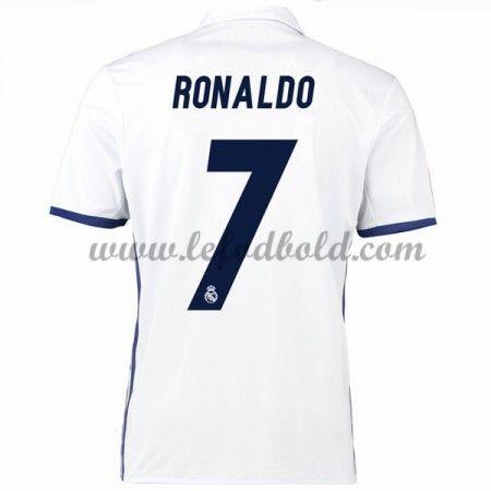 Billige Fodboldtrøjer Real Madrid 2016-17 Ronaldo 7 Kortærmet Hjemmebanetrøje
