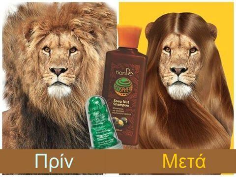 """Με το ECO σαμπουάν """"Soap Nut"""" (σαπουνοκάρυδο) και το serum μαλλιών της TianDe."""