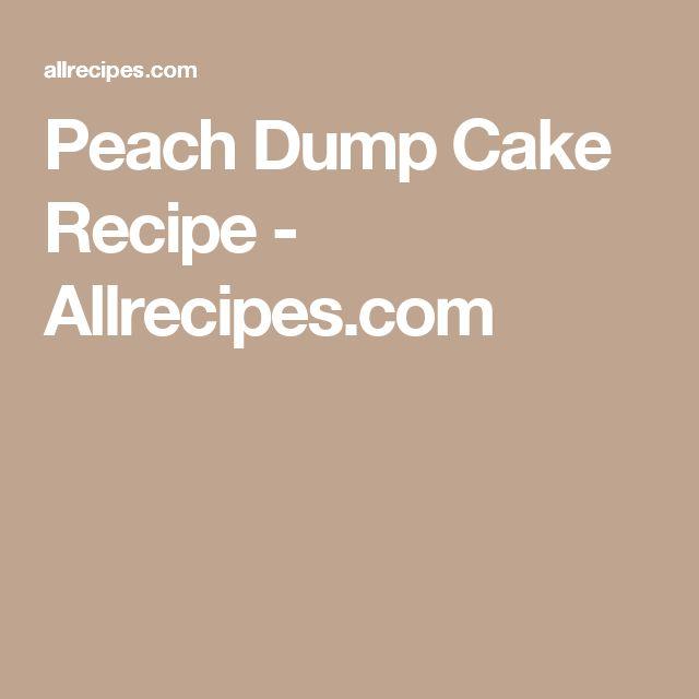 Peach Dump Cake Recipe - Allrecipes.com