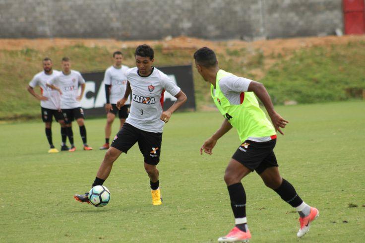 Vitória na Veia! Vitória cumpre mais um dia de treino visando o duelo contra o Fluminense - Vitória na Veia!