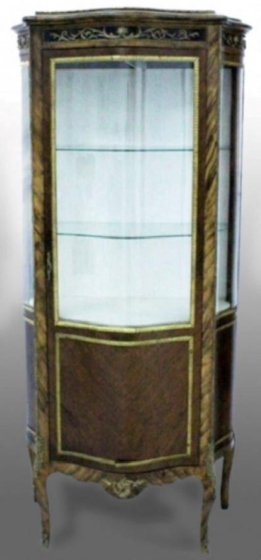 Lot: LOUIS XVI GILT BRONZE MOUNTED MAHOGANY CURIO CABINET, Lot Number: 0187G, Starting Bid: $550, Auctioneer: World of Antiques, Inc., Auction: APRIL BLOWOUT ANTIQUE AUCTION, Date: April 29th, 2017 EDT