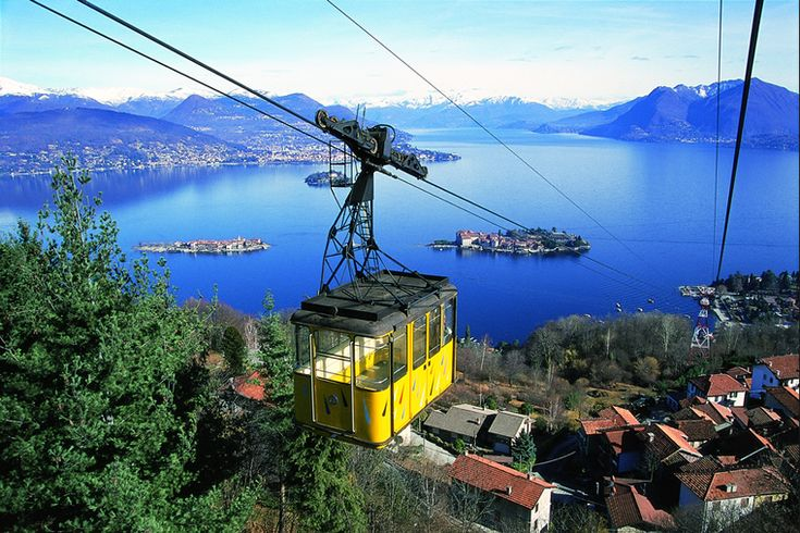 One of the most beautiful places on earth ! Stresa-Mottarone on Lake Maggiore , Piedmont , Italy .