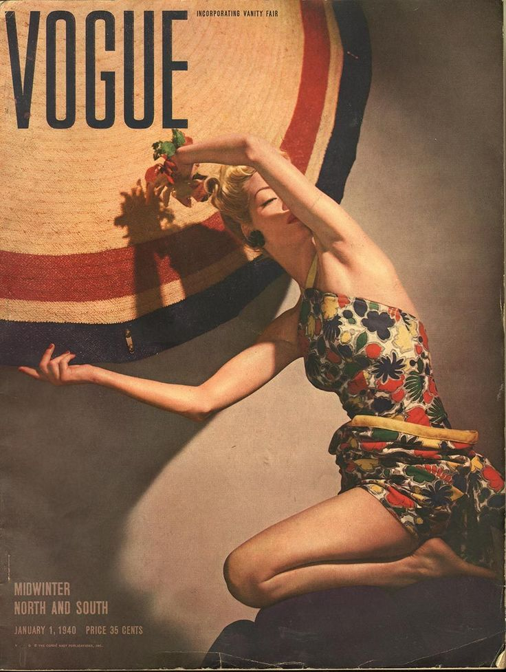 Vogue, Jan 1, 1940 vintage covers were so creative
