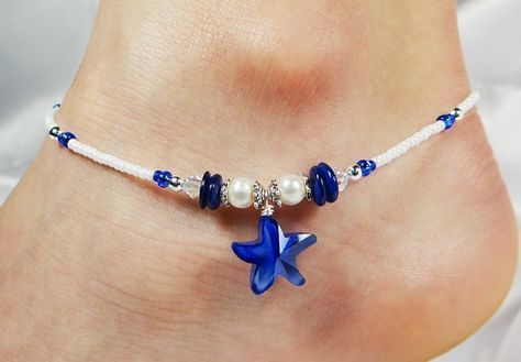 Hey, I found this really awesome Etsy listing at https://www.etsy.com/listing/190210822/anklet-ankle-bracelet-cobalt-blue-glass