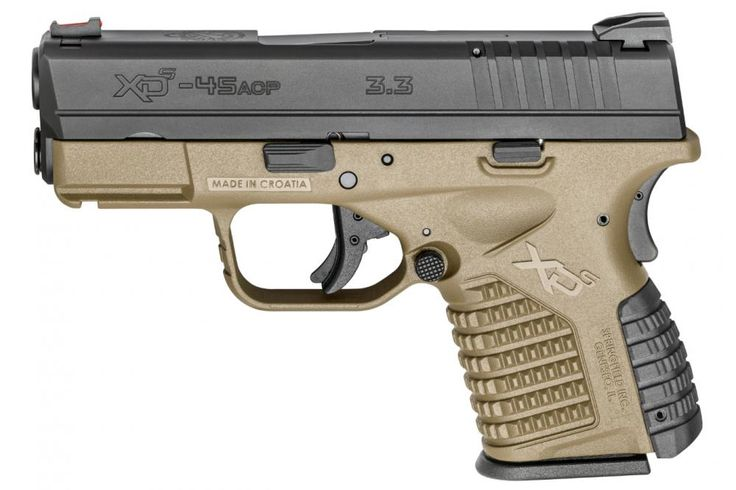 "Springfield XDS 45 ACP 3.3"" FDE Fiber Optic Front Sight 6Rd 2 Magazines - $399.99 + 4 mags, holster, magazine pouch after MIR (Free S/H on Firearms) 