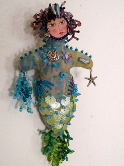 Items similar to Beaded Mermaid