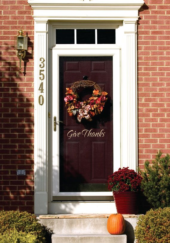 A fun way to greet guests for the holidays! This Thanksgiving wall decal can be customised.