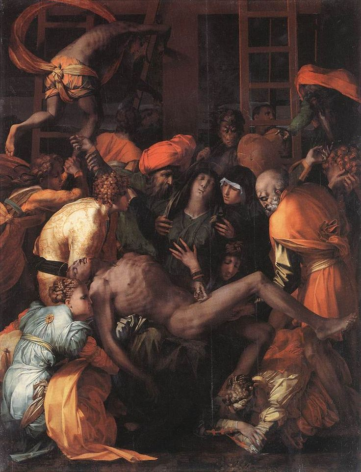 ROSSO FIORENTINO Deposition from the Cross 1528 Oil on canvas, 270 x 201 cm San Lorenzo, Sansepolcro