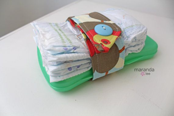 Diaper Strap  Morning Glory  Holds diapers and Wipes by marandalee, $8.00