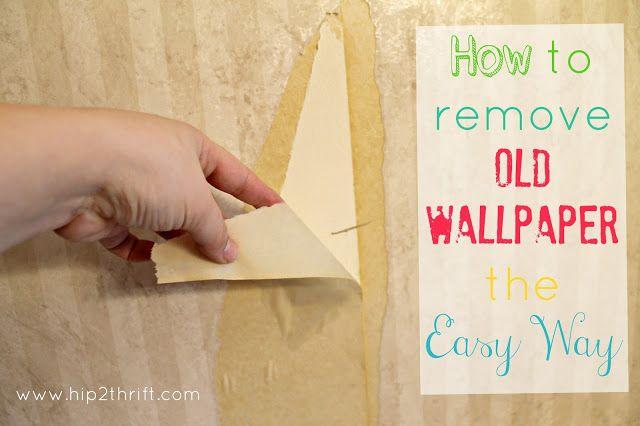 hip2thrift: Cómo eliminar el viejo papel pintado fácilmente {Baño cambio de imagen}