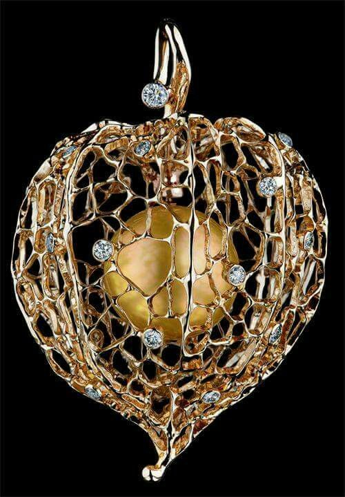 Chinese Lantern pendant, Caravaggio collection, Jewellery Theatre by Maxim Voznesensky