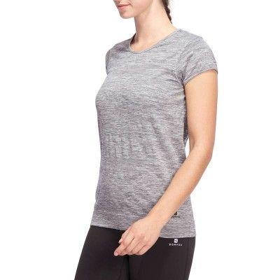 Fitness_Fitnesskleding Yoga, Dans, Turnen - Yoga T-shirt Actizen DOMYOS - Pilates en Yoga