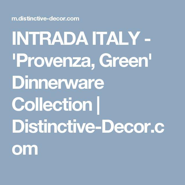 INTRADA ITALY - 'Provenza, Green' Dinnerware Collection | Distinctive-Decor.com