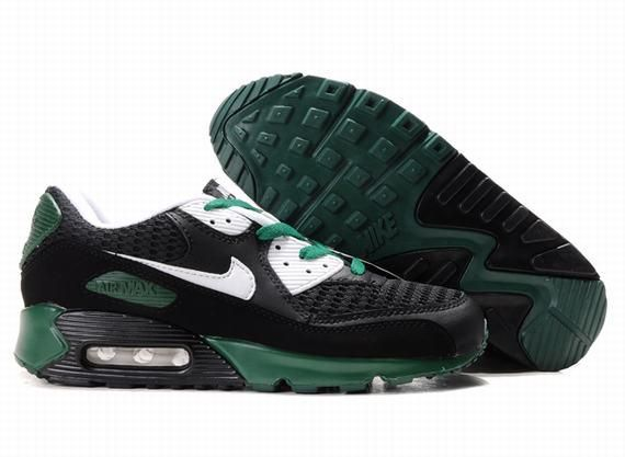https://www.kengriffeyshoes.com/nike-air-max-90-black-green-white-p-687.html Only$72.79 #NIKE AIR MAX 90 BLACK GREEN WHITE #Free #Shipping!