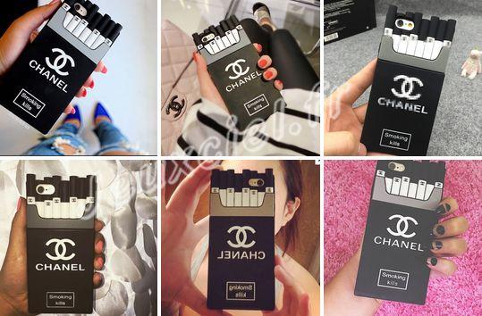 Coque iPhone Samsung Chanel Porte-cigarette silicone achat sur jeuxciel.fr