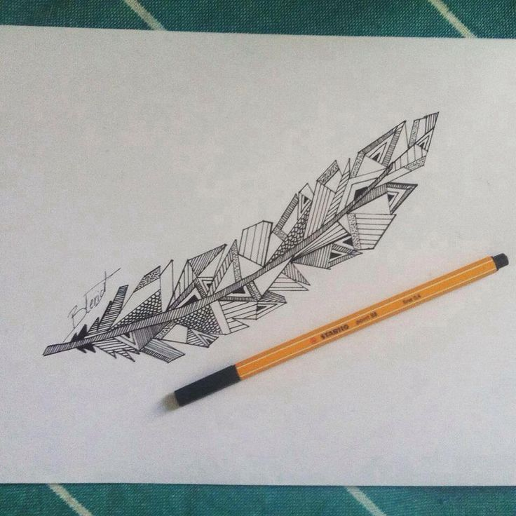Dessin plume géométrique