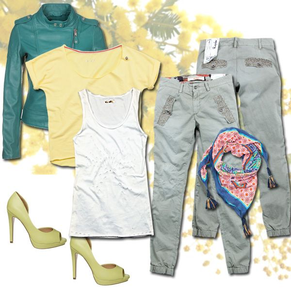 Girls night out by #40weft #ss2014 #womenfashion #fashionblogger #fashion #yellow #golook