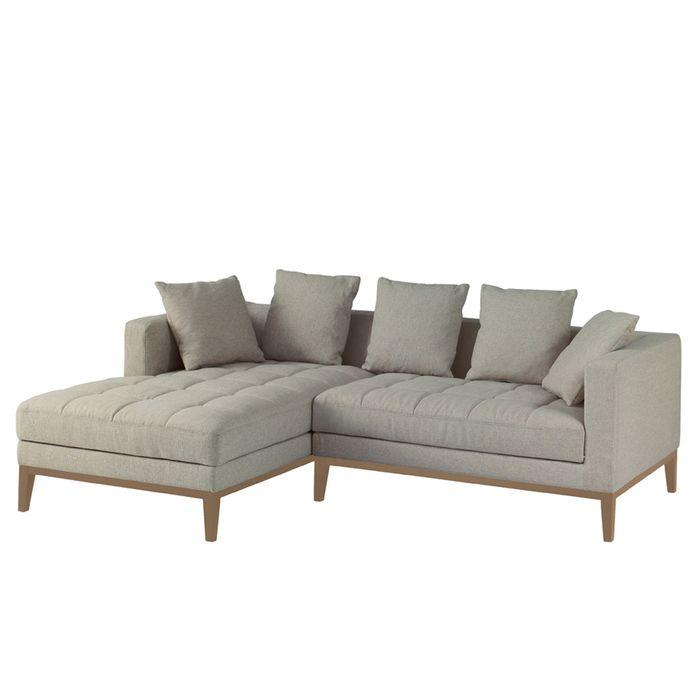 limoges left hand corner sofa pewter - dwell