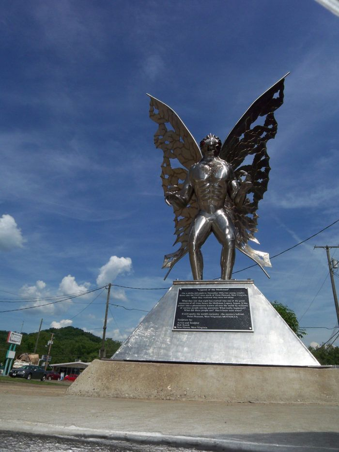 There's even a Mothman Statue in the center of town.