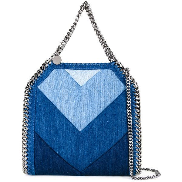 Stella McCartney Falabella denim tote (£1,175) ❤ liked on Polyvore featuring bags, handbags, tote bags, blue, blue totes, blue purse, tote handbags, denim purse and handbags totes