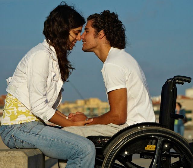 I love these pictures of couples, one in a wheelchair.