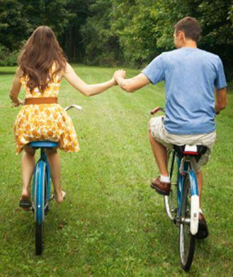 40 Free Date Ideas You'll Both Love..also, i have that dress the girl is wearing lol: Fun Free Date Ideas, Bike Riding, Cute Ideas, Fun Couple Ideas, Night, Shape Magazines, Relationships, 40 Free, Ideas Youll