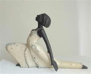 Sculpture Dancer - Art Ceramic Pottery by Margit Hohenberger