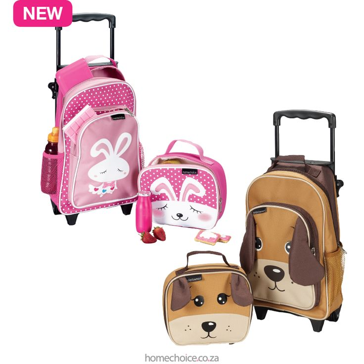 Alice or Dennis luggage sets from R399 cash or R39 p/m. Shop now http://www.homechoice.co.za/baby-and-kids/bags/default.aspx