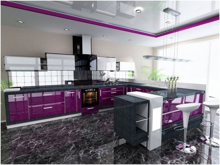 Erstaunlich Küche Lila  Küche lila, Haus küchen, Küche