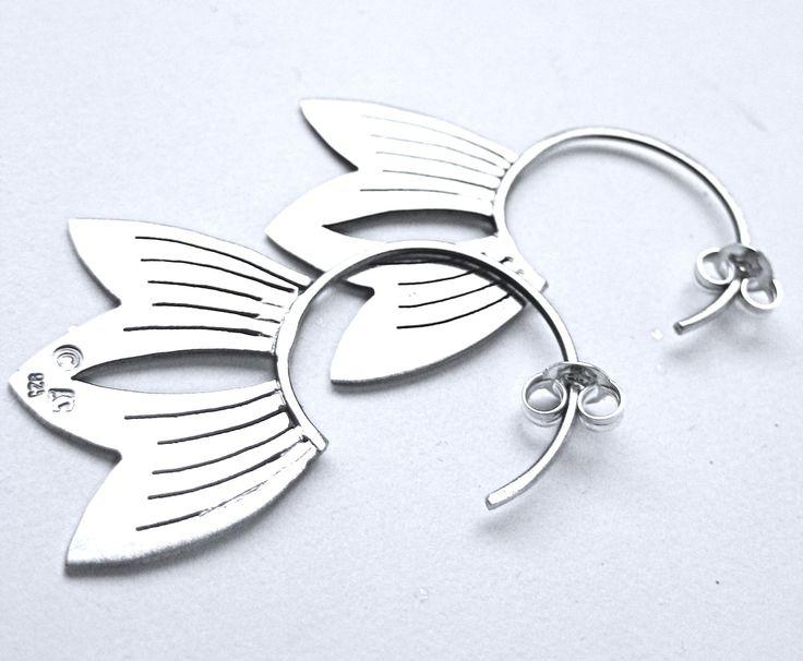 Sterling Silver Lotus Petal Earrings by CeebWassermann on Etsy https://www.etsy.com/listing/65745885/sterling-silver-lotus-petal-earrings