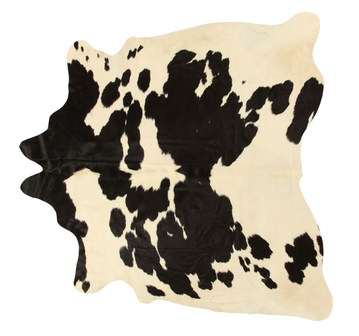 COW HIDE BLACK & WHITE RUG Shaped rug in 100% pure bovine leather handmade, minimum thickness