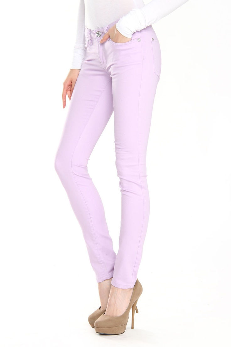 Lilac colored jeans
