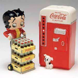 Betty Boop & Coke Dispenser Salt and Pepper Shakers