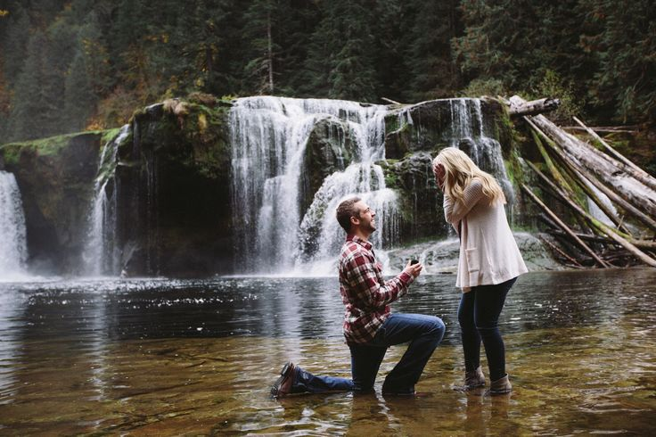 Waterfall proposal, Jessica Hunter, Lower River Lewis Falls, surprise proposal, engagement, elopement location, pacific northwest, washington state elopement photographer, cool places to propose, unique proposal, wedding photographer in washington, www.jmhunterphotography.com
