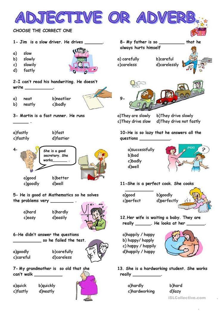 Adjective Or Adverb Worksheet Free Esl Printable Worksheets Made By Teachers Adverbs Worksheet English Language Teaching Adverbs