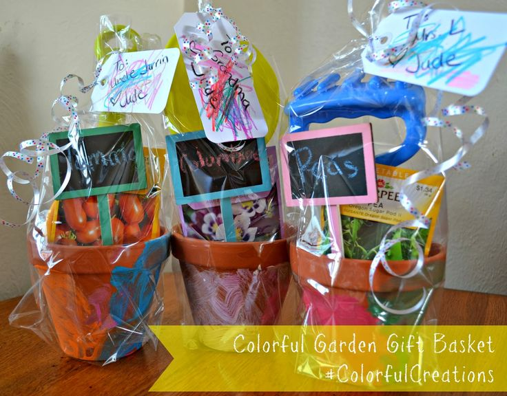 creating a colorful garden gift basket using crayola crayons and sidewalk chalk colorfulcreations shop