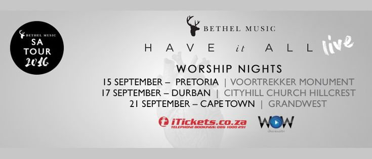 Bethel Music SA Tour - Cape Town 1 | Cape Town, ZA | iTickets