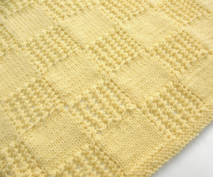 Baby Girl Blanket Knitting Patterns : Knit Baby Blanket Yellow Hand Knitted Baby Afghan Blanket Newborn Boy Girl In...
