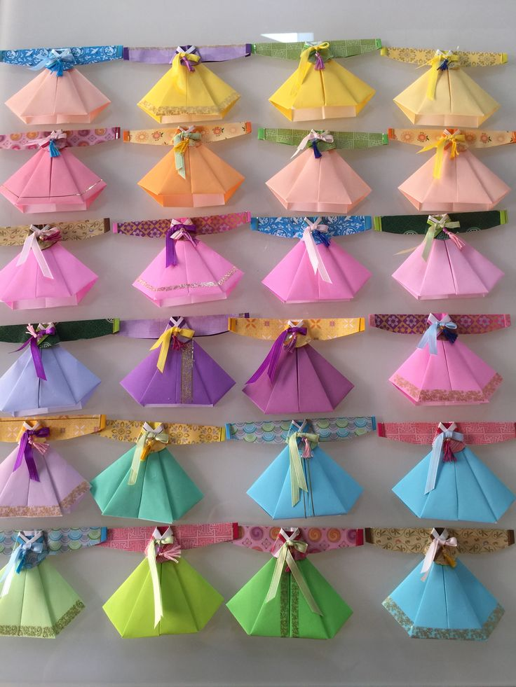 Hanbok origami