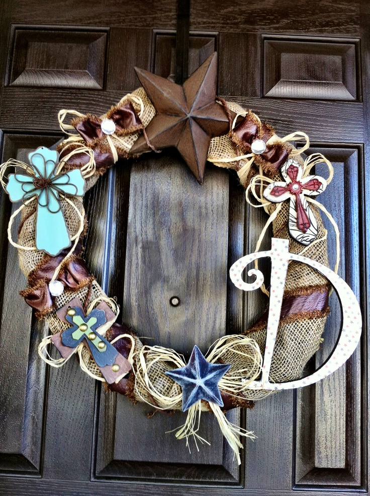 Cowboy Cross Wreath