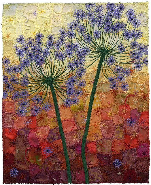 Autumn Allium Duo by Kirsten's Fabric Art, via Flickr