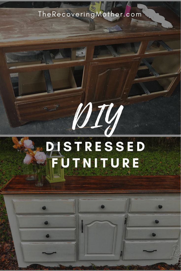 Distressing Furiture Distressed Furniture Diy Distressed Wood